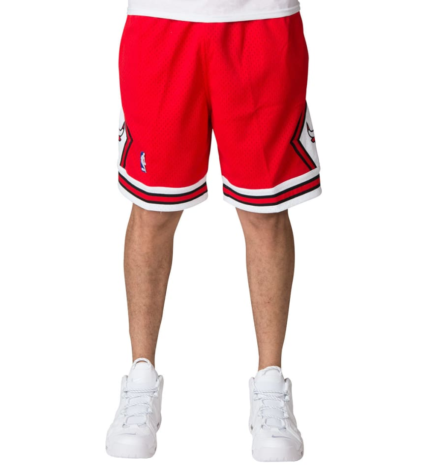 a7991ba0a3e Mitchell and Ness Chicago Bulls Swingman Shorts (Red) - 540B3287CB ...