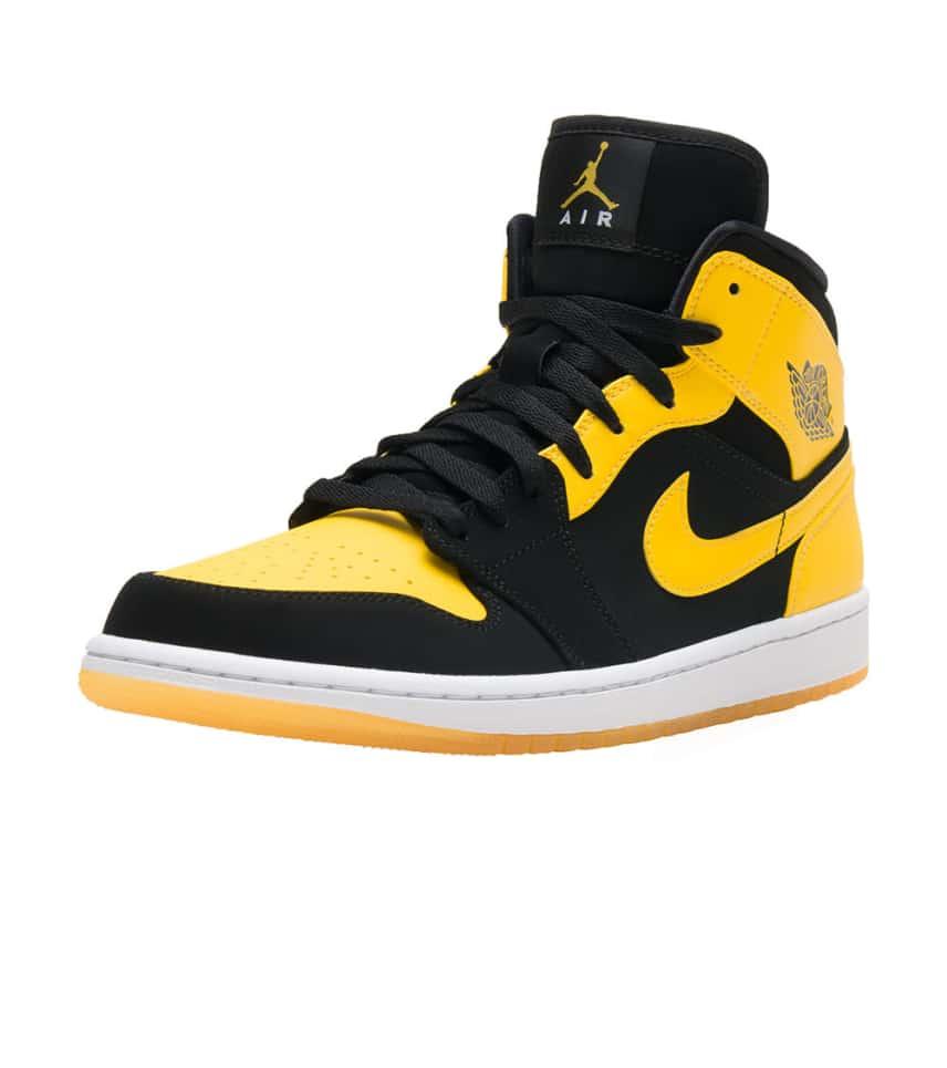 Jordan 1 Mid Sneaker (Black) - 554724-035  a1b47fa1a