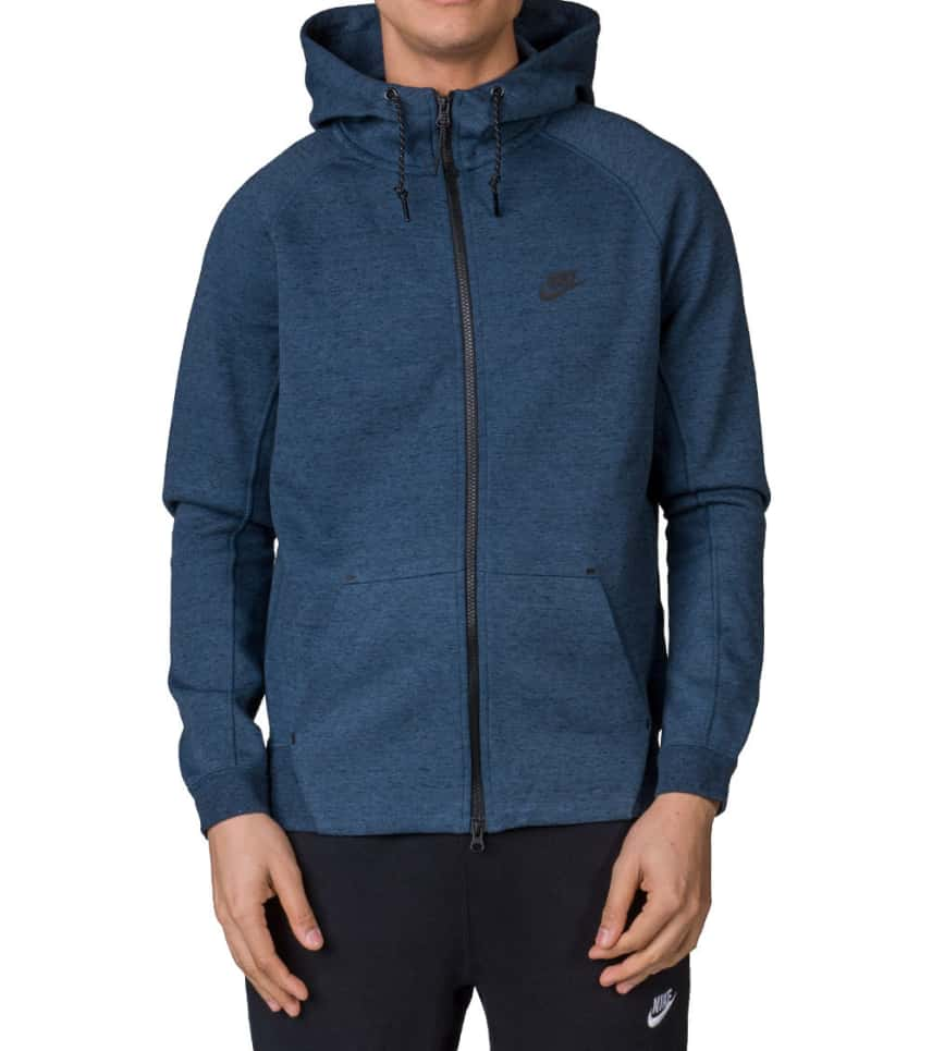 3d18539820a Nike TECH FLEECE AW77 FULL ZIP HOODIE (Blue) - 559592-460