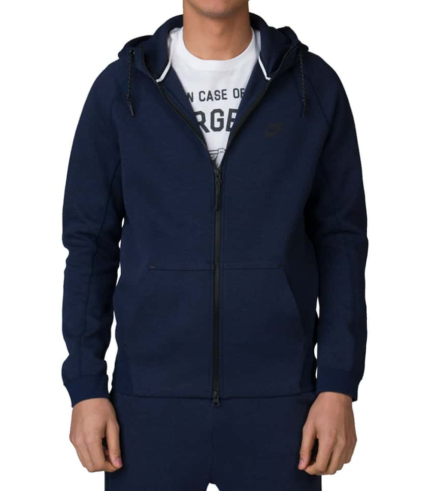 80bafabdba09 NIKE SPORTSWEAR TECH FLEECE AW77 FULL ZIP HOODIE (Navy) - 559592-473 ...