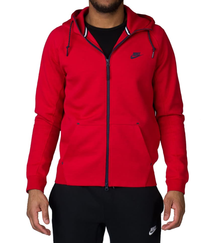 6d15f91386bb NIKE SPORTSWEAR TECH FLEECE AW77 FULL ZIP HOODIE (Red) - 559592-672 ...