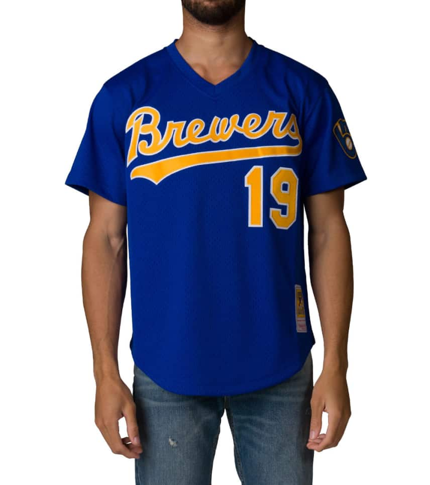 baca72f592d Mitchell and Ness Milwaukee Brewers Jersey (Blue) - 562141491R ...