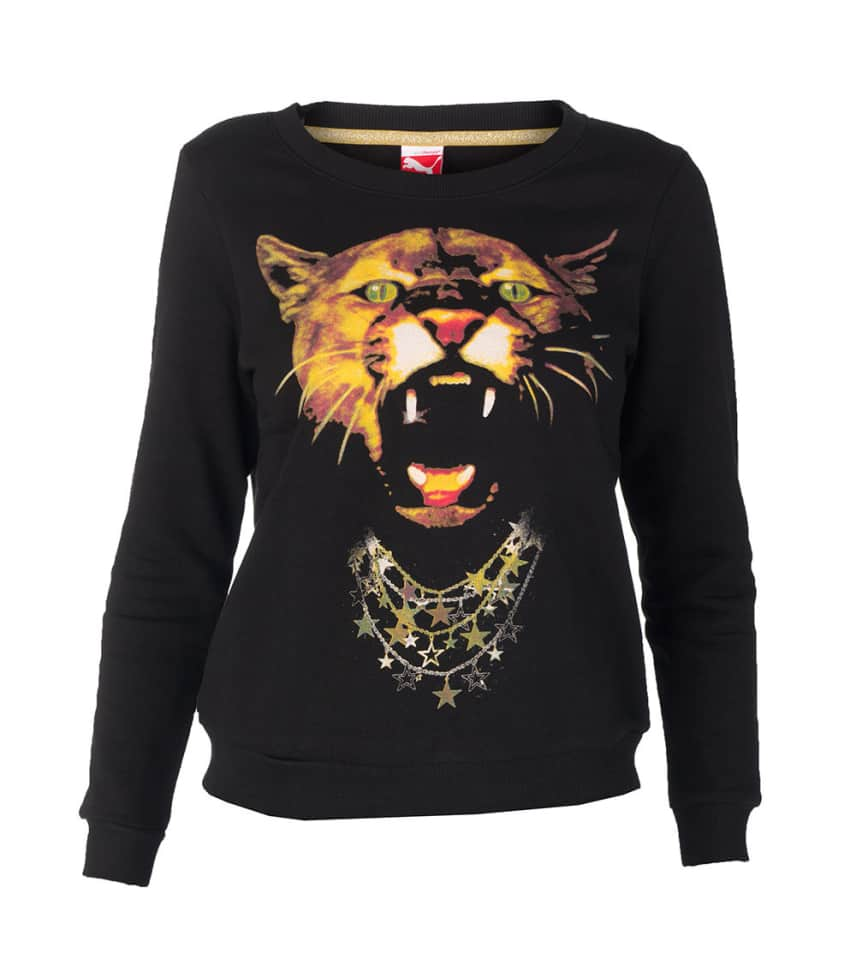 904e04314223 Puma PUMA GRAPHIC CREW SWEATSHIRT (Black) - 56682301
