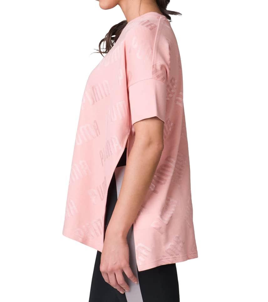 99d2a1e7196aab Puma EN POINTE WIDE TEE (Pink) - 57509031-690