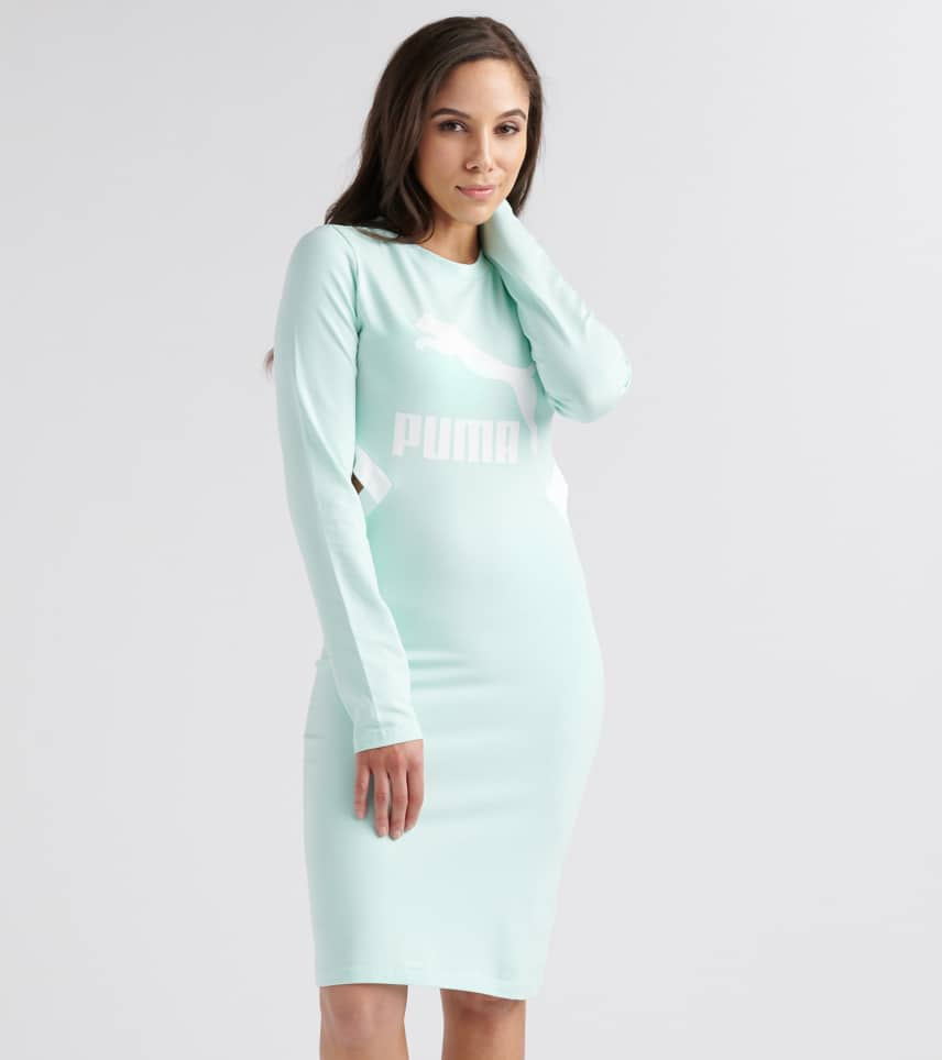bf1219db228c Puma Classics Logo Tight Dress (Medium Green) - 57805734-400