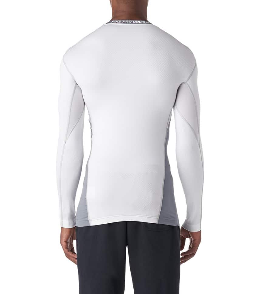 ff39561b Nike Hyperwarm Compression Long Sleeve Crew (White) - 588890-100 ...