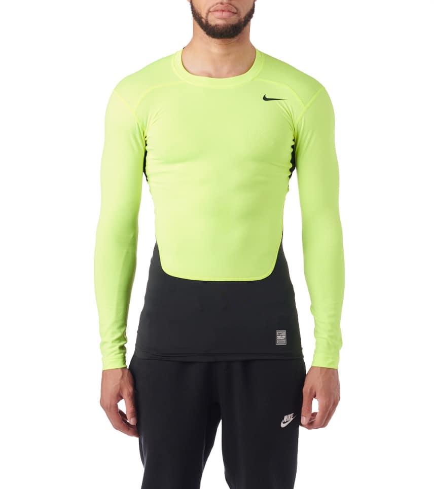 b3f69b91fa419 Nike Hyperwarm Compression Long Sleeve Crew (Medium Yellow) - 588890 ...
