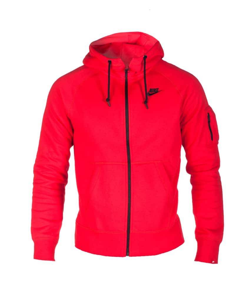 0684d6b26c2f Nike NIKE AW77 FLC FZ HOODIE (Red) - 598759603