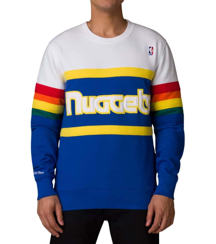 36d616734 Mitchell and Ness Denver Nuggets Sweatshirt (White) - 611T309ADNU ...