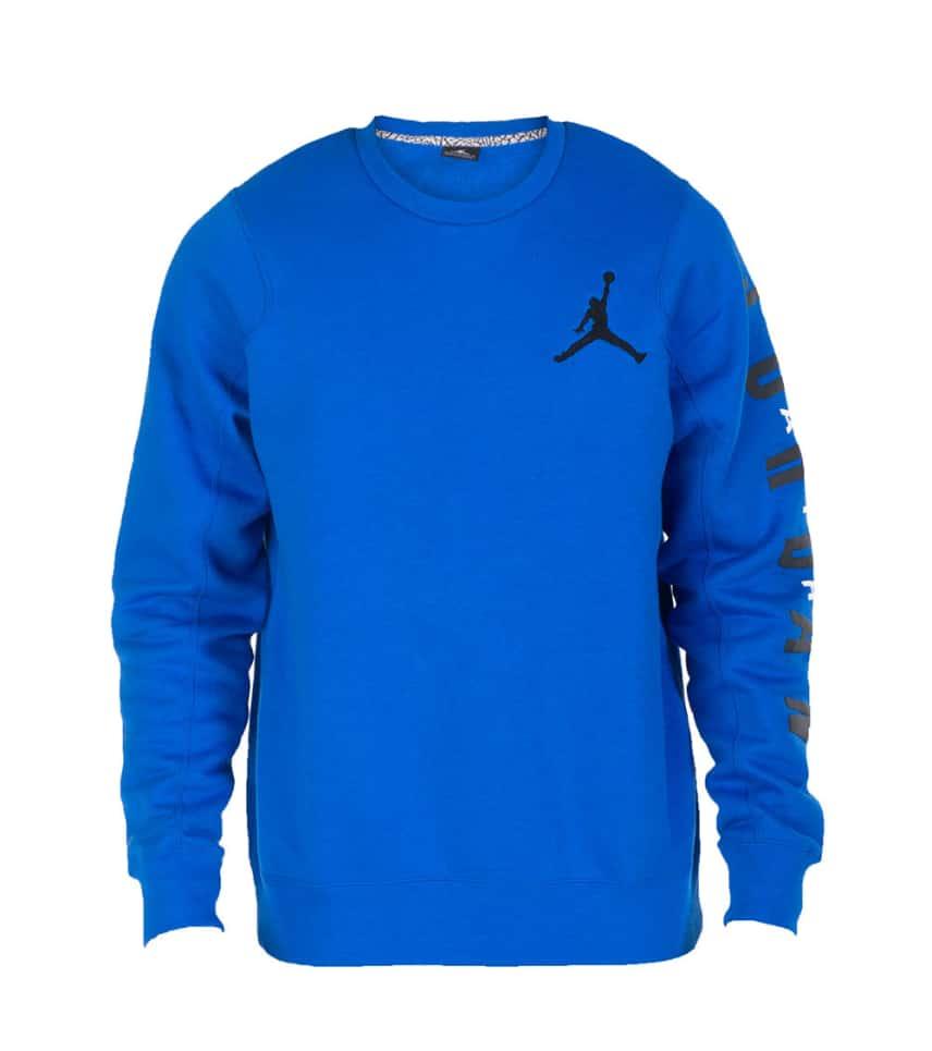 063b735de019 Jordan FLIGHT CLASSIC FLEECE CREW SWEATSHIRT (Blue) - 619445