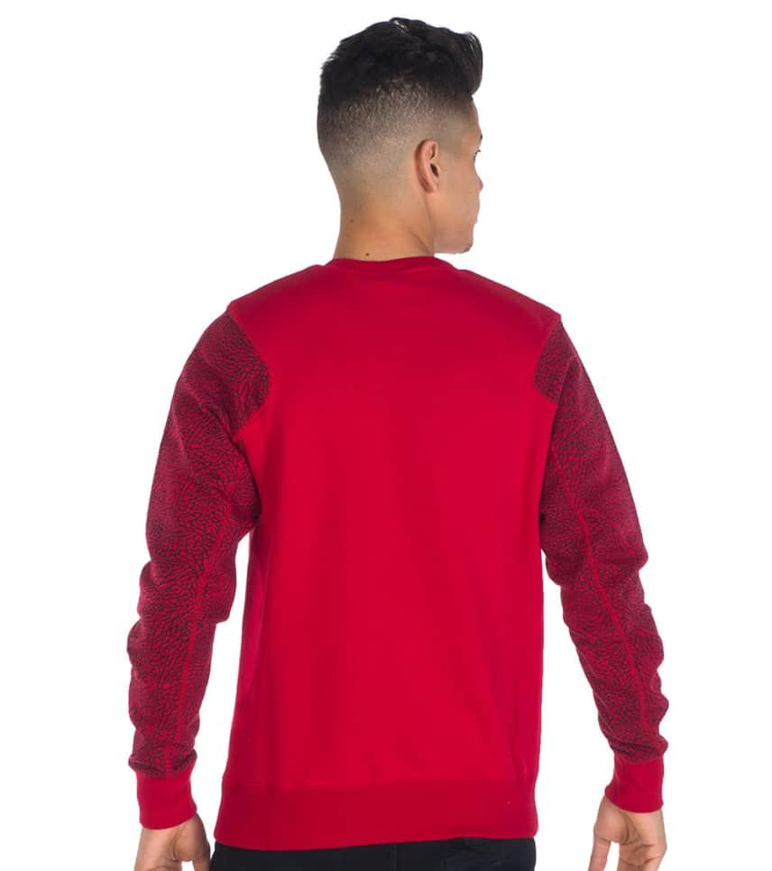 Jordan Elephant Print Crew Sweatshirt Red 634489695 Jimmy Jazz