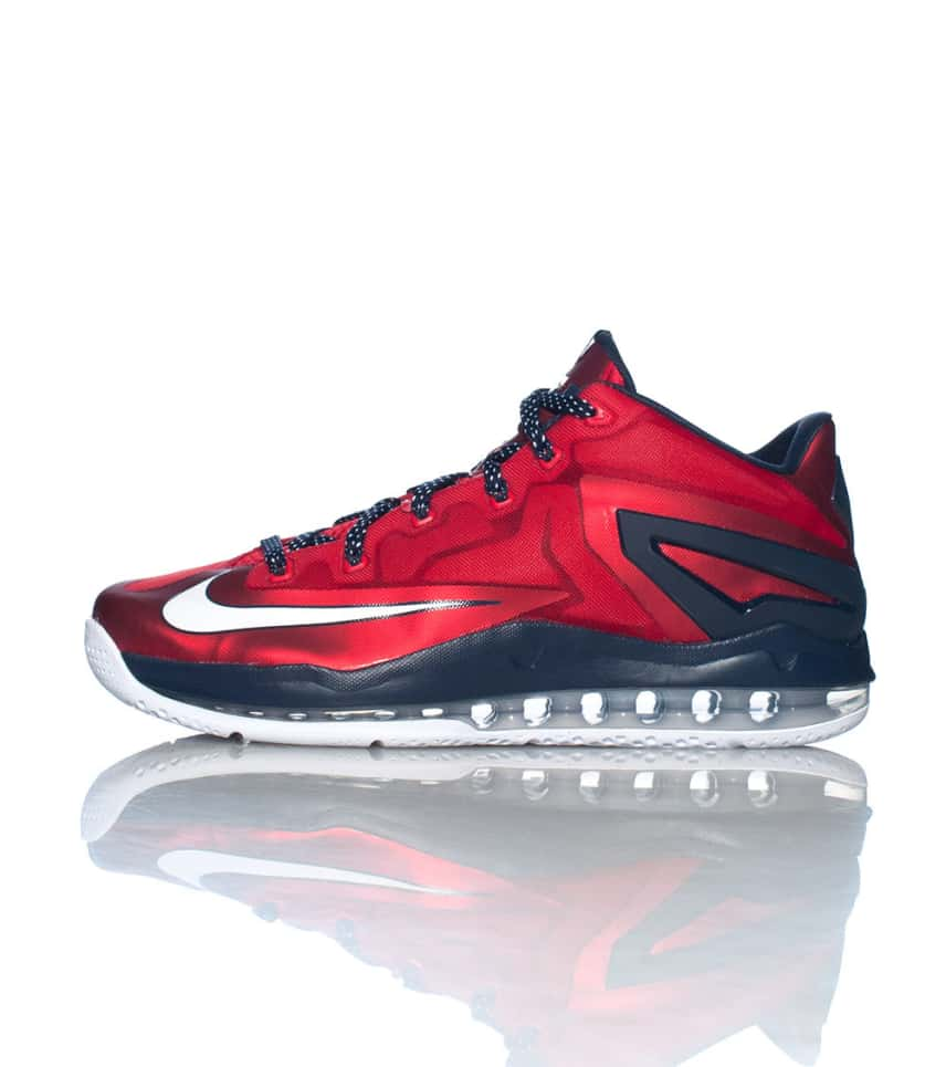 48d7ec75eb51 Nike LEBRON XI LOW INDEPENDENCE DAY SNEAKER (Red) - 642849614 ...
