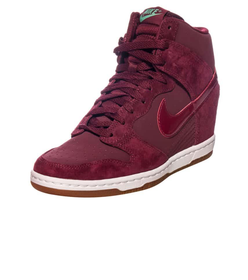 NIKE SPORTSWEAR Dunk Sky Hi Essential Sneaker (Burgundy) - 644877 ... c5fa6c10a