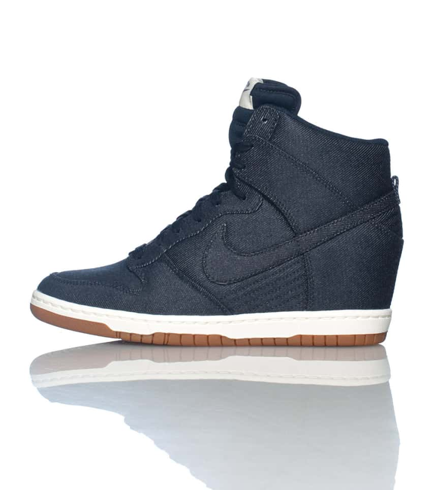 NIKE SPORTSWEAR Dunk Sky Hi Essential Wedge Sneaker (Navy ... 09f78c02cb