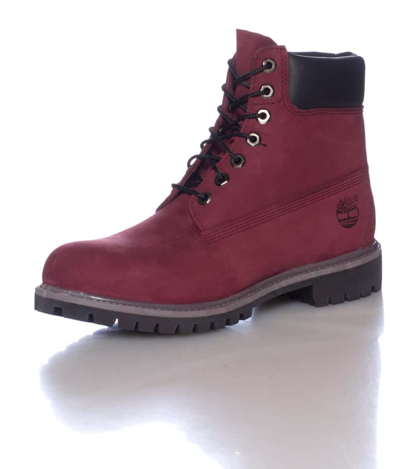 60f34bcaaca7 Timberland 6 INCH SUEDE BOOT (Burgundy) - 6608A