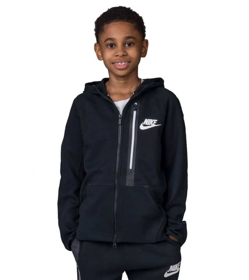 39489701617f Nike TECH FLEECE FULL ZIP HOODIE (Black) - 679307-010