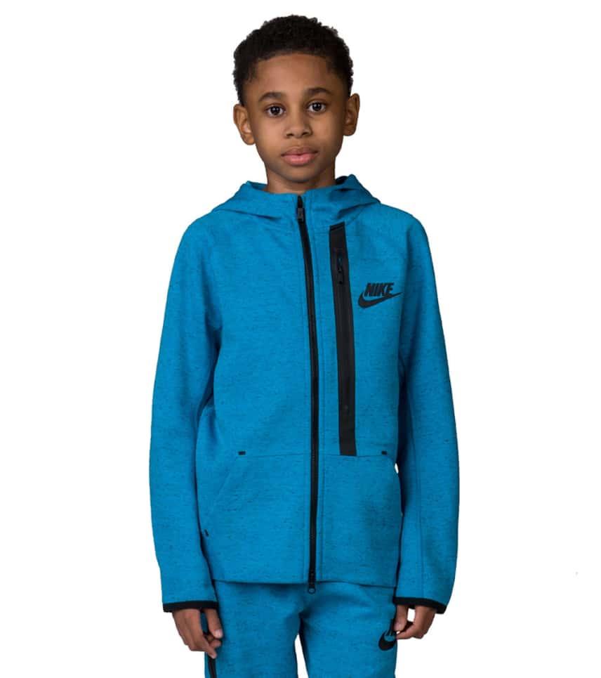 2aedf1433469 Nike TECH FLEECE FULL ZIP HOODIE (Medium Blue) - 679307-407