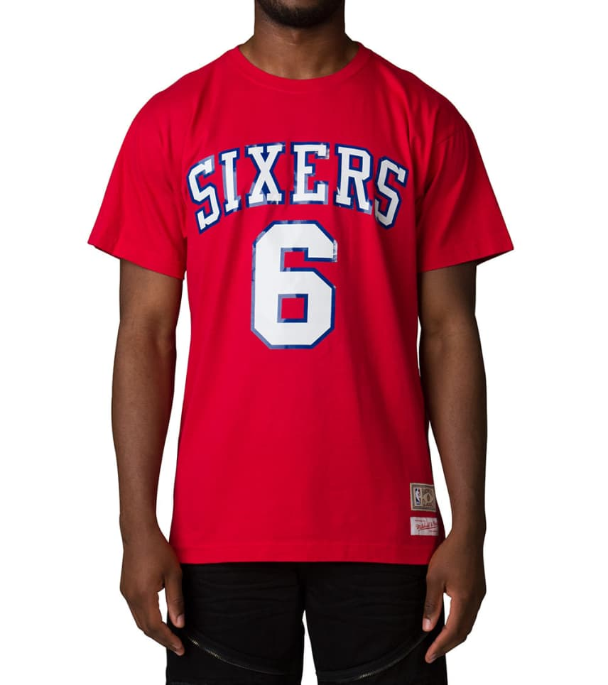 hot sale online ceb89 937bc Philly 76ERS Julius Erving Tee