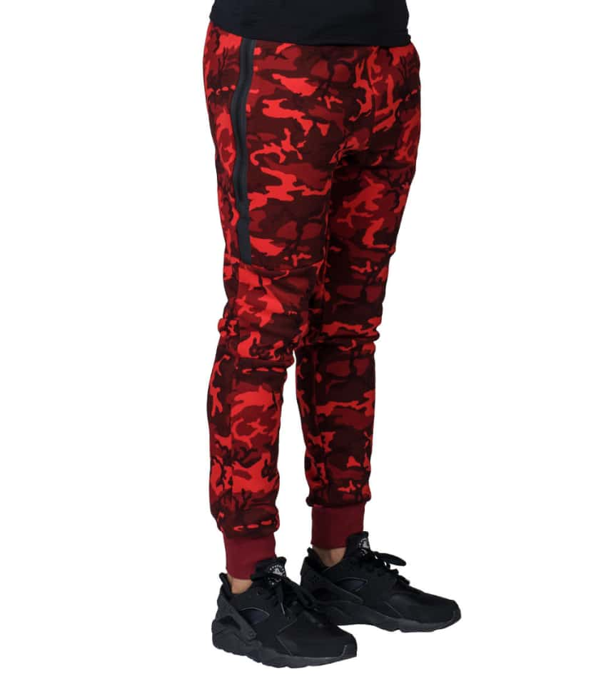 NIKE SPORTSWEAR Nike Tech Fleece Wr Camo 1mm Pant (Red) - 682852-677 ... e9802f4b07