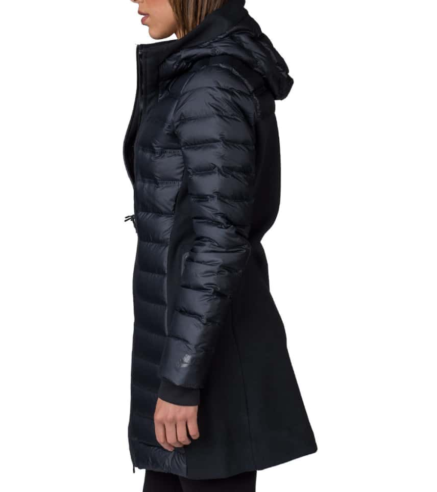 Aeroloft 010 black Fleece 683940 Tech Sportswear Nike Parka Wngv0tSw4