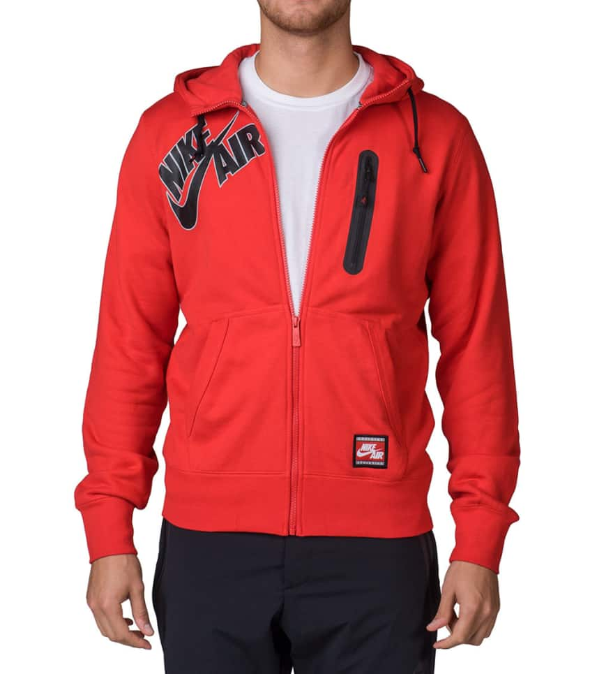 f99bab0422c9 NIKE SPORTSWEAR NIKE AIR BONDED FULL ZIP HOODIE (Red) - 689371-657 ...