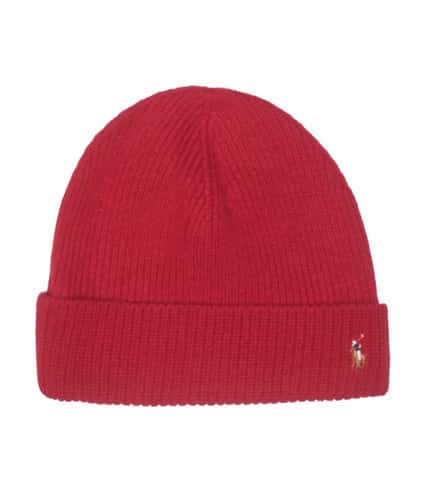d2e1c9c06c2 Polo SIGNATURE MERINO CUFF WINTER BEANIE (Red) - 6F0101-611