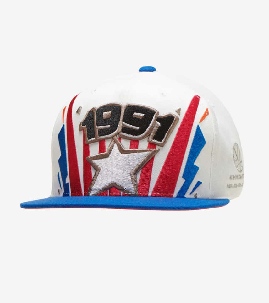 0a7a871d1593c3 Mitchell and Ness 1991 Charlotte NBA All-Star Game Hat (White ...