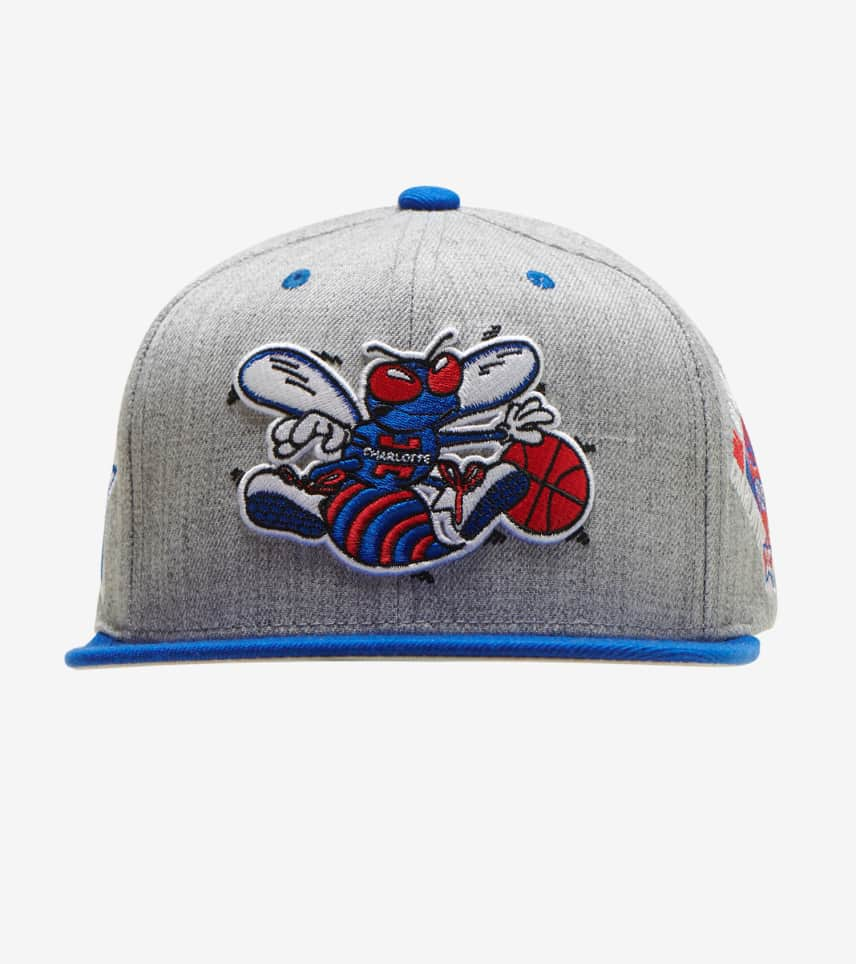 4fd6f9a91f0f03 Mitchell and Ness Charlotte Hornets The Score Hat (Grey ...