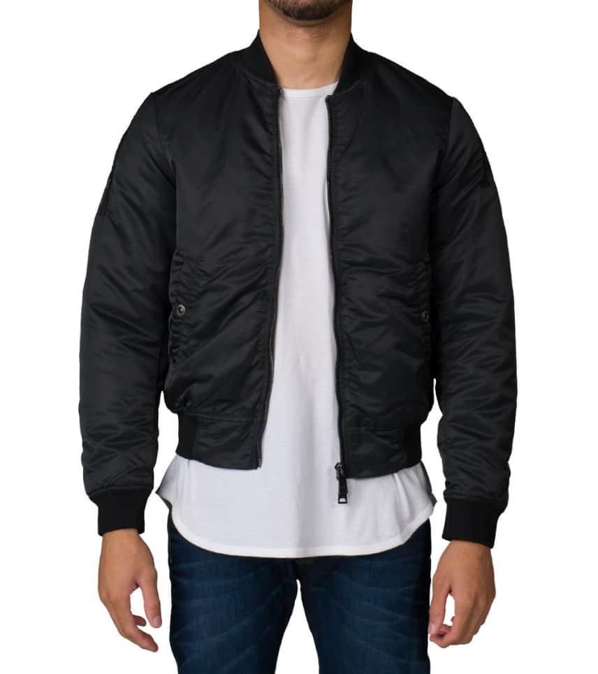 601e82ea10c9 Armani Jeans LOGO EMBROIDERY NYLON SATIN JACKET (Black) - 6X6B456NA ...
