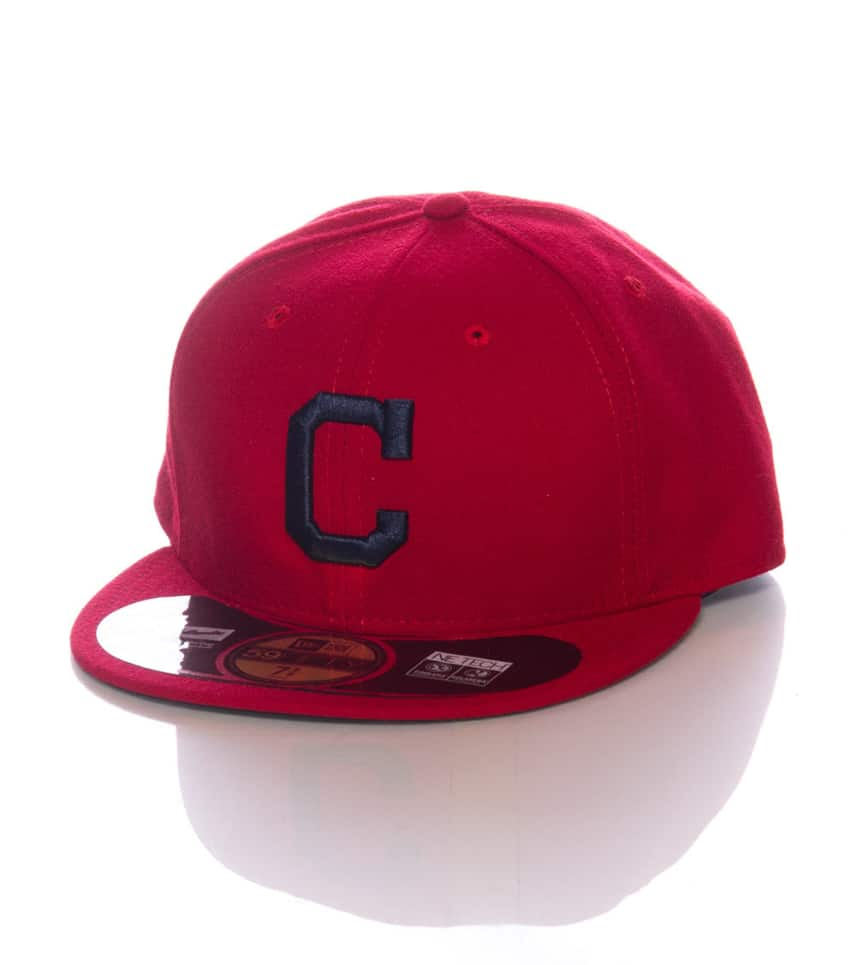 New Era Cleveland Indians Mlb Fitted Cap (Red) - 70166753H  8a82e2f91a2