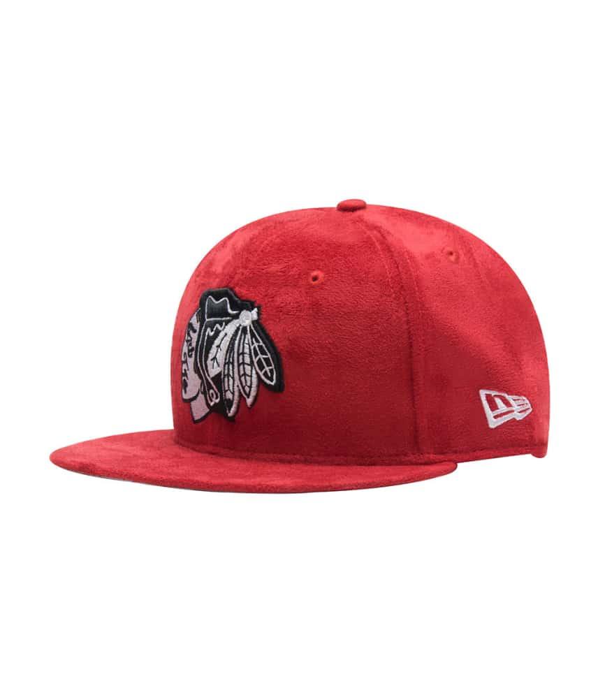 827c553a1 New Era Chicago Blackhawks Suede Snapback (Dark Red) - 70388247 ...