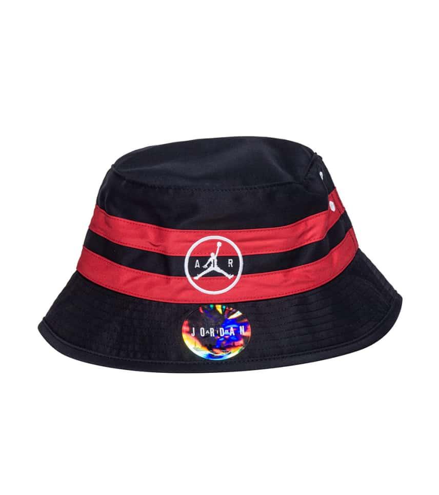 bd74547fb71 Jordan JUMPMAN AIR STRIPED BUCKET HAT (Black) - 707254-010