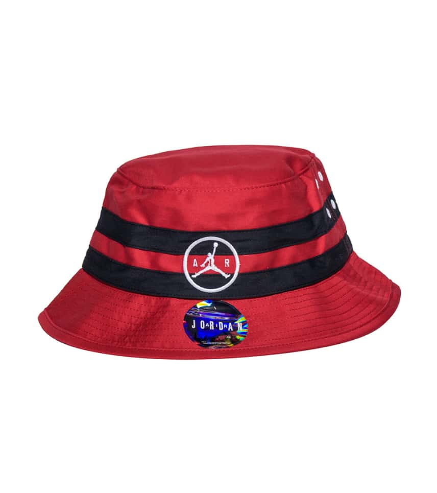Jordan Jumpman Air Striped Bucket Hat (Red) - 707254-687  02ac5baf362