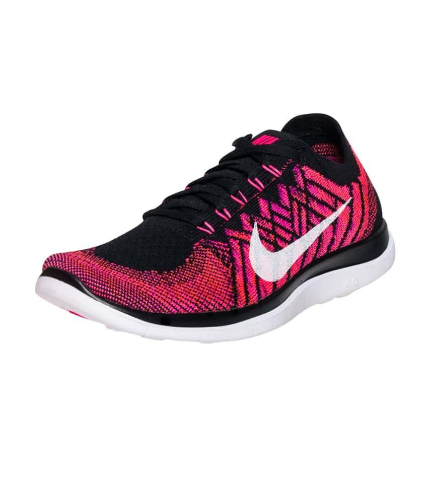 Nike Free Run 4.0 Flyknit V2 purple black shoes Women # 006