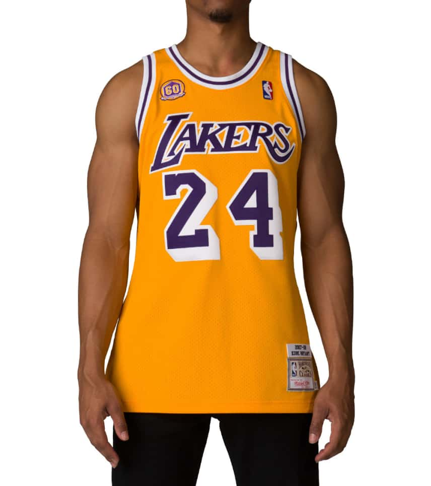 ffe39b146430 Mitchell and Ness Los Angeles Lakers Kobe Bryant Jersey (Gold ...