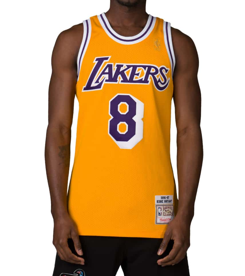 9ee7a256c10 Mitchell and Ness LA LAKERS BRYANT 8 JERSEY (Yellow) - 722630296KBR ...