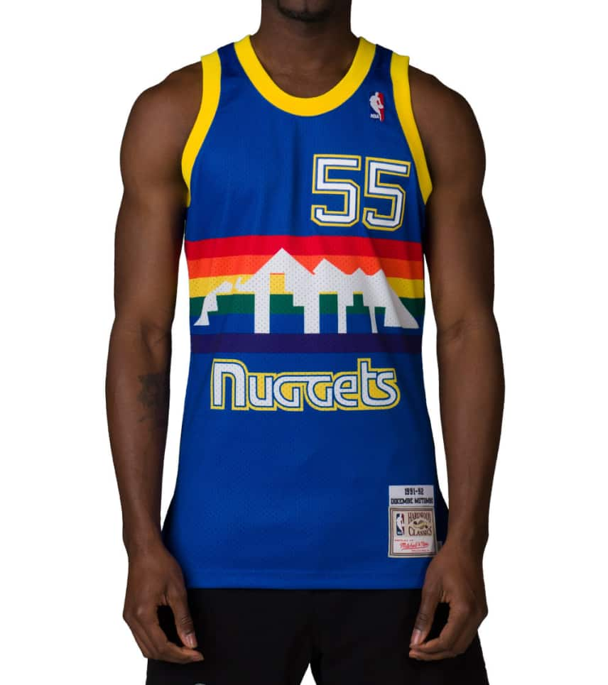 6e856315ee3 Mitchell and Ness DENVER NUGGETS MUTOMBO 55 JERSEY (Royal ...
