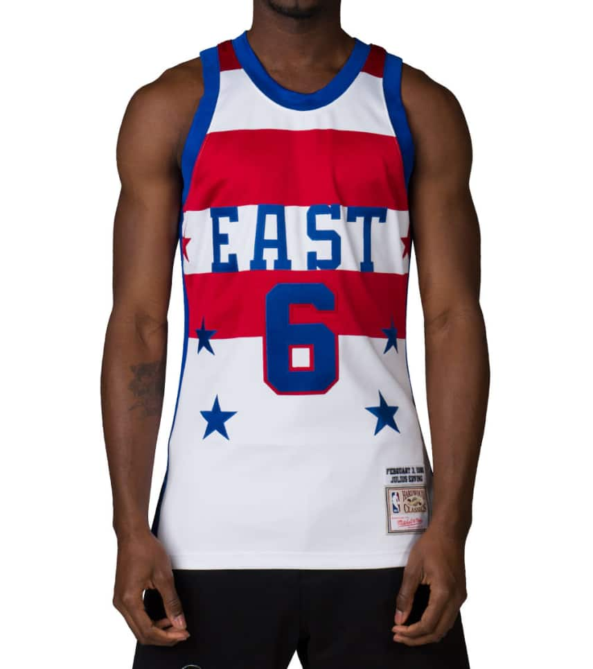 Mitchell and Ness ALL STAR EAST JULIUS ERVING 6 JERSEY (White ... 50e4abd25