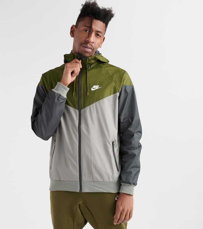 6a0cd3a57f4c Nike Windrunner Full Zip Jacket (Dark Green) - 727324-395