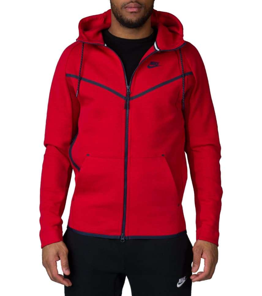 NIKE SPORTSWEAR Nike Tech Um Fleece Fl Zip Hoodie (Red) - 727340-672 ... 312108535