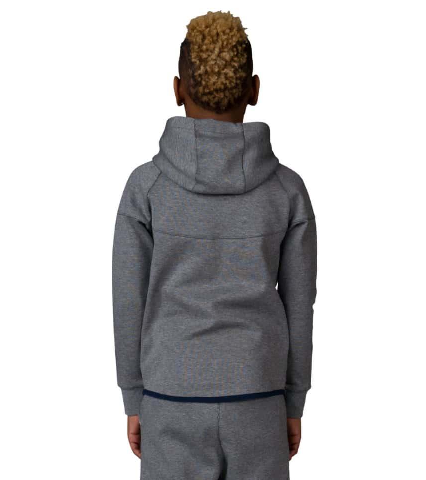 8c4b47ed2151 Nike BOYS TECH FLEECE WINDRUNNER ZIP HOODIE (Grey) - 728205-091 ...