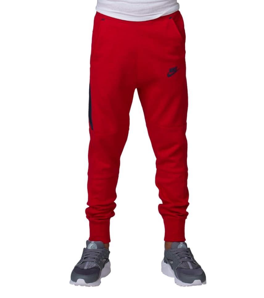 21c703392f74 Nike BOYS TECH FLEECE PANT (Red) - 728207-672