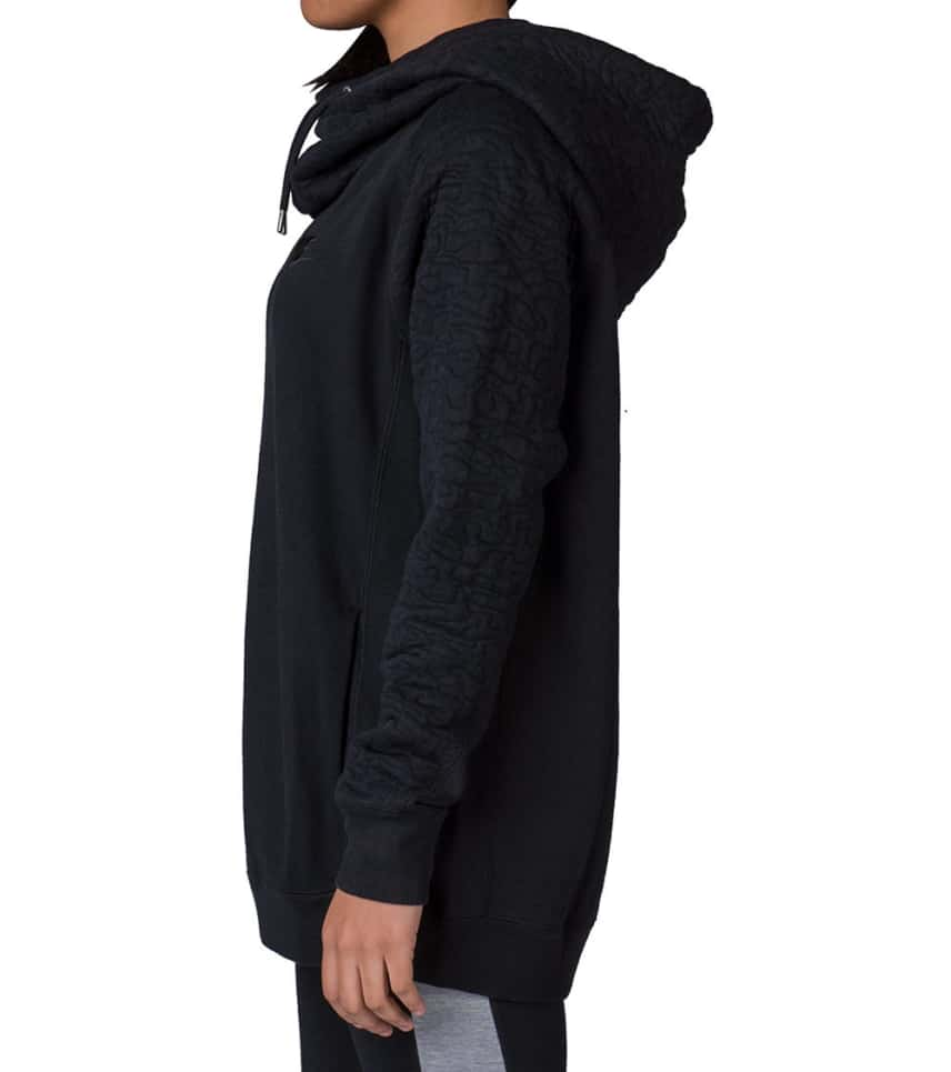 4f0a5963725f NIKE SPORTSWEAR QUILTED RALLY HOODIE (Black) - 729472-010