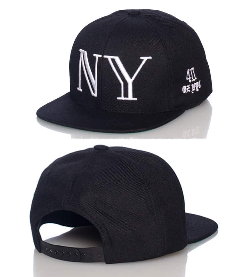 40 OZ NYC NY 3d Embroidery Snapback Cap (Black) - 75061  c4b4a90cf93