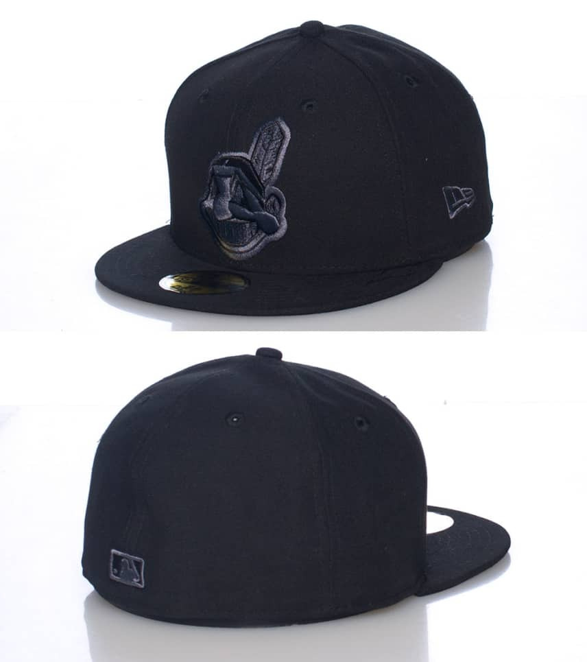 9d3590b03f7 New Era CLEVELAND INDIANS MLB FITTED CAP (Black) - 75144861