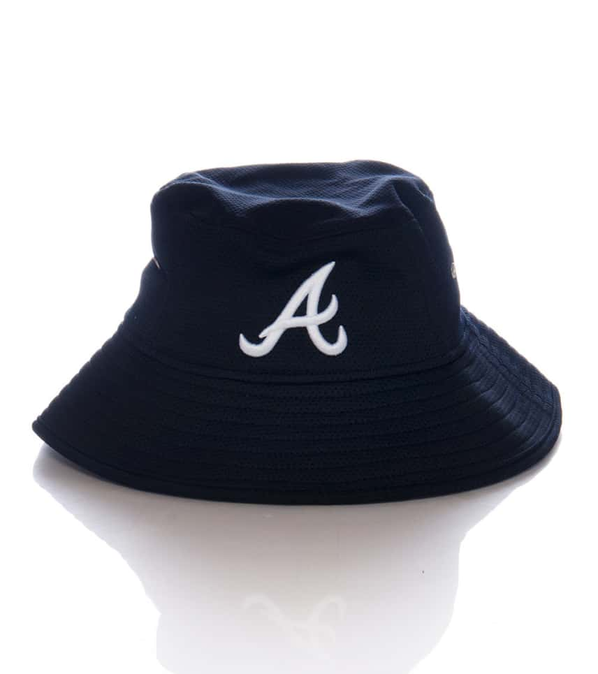 0702e83870a New Era Atlanta Braves Team Bucket Hat (Blue) - 80117658H