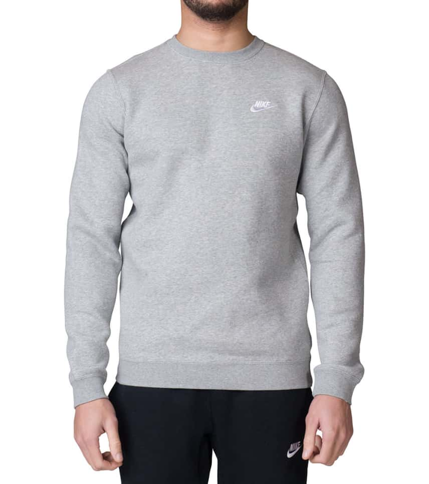 2e47dda8 Nike Club Fleece Sweatshirt (Grey) - 804340-063 | Jimmy Jazz