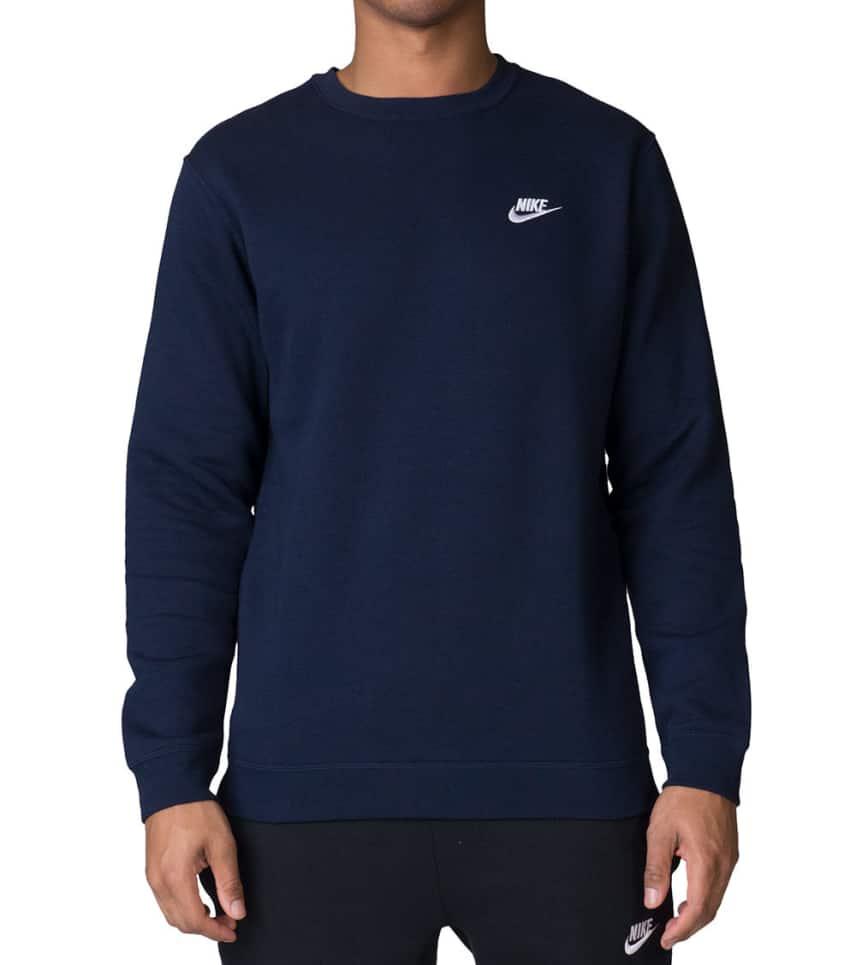 dd482322e37b Nike Club Fleece Sweatshirt (Navy) - 804340-453