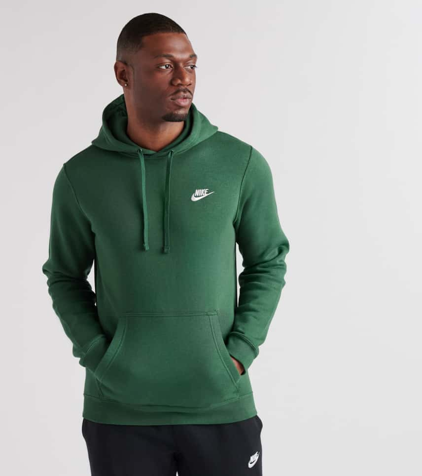 b0757062e Nike Club Swoosh Pullover Hoodie (Dark Green) - 804346-323 | Jimmy Jazz