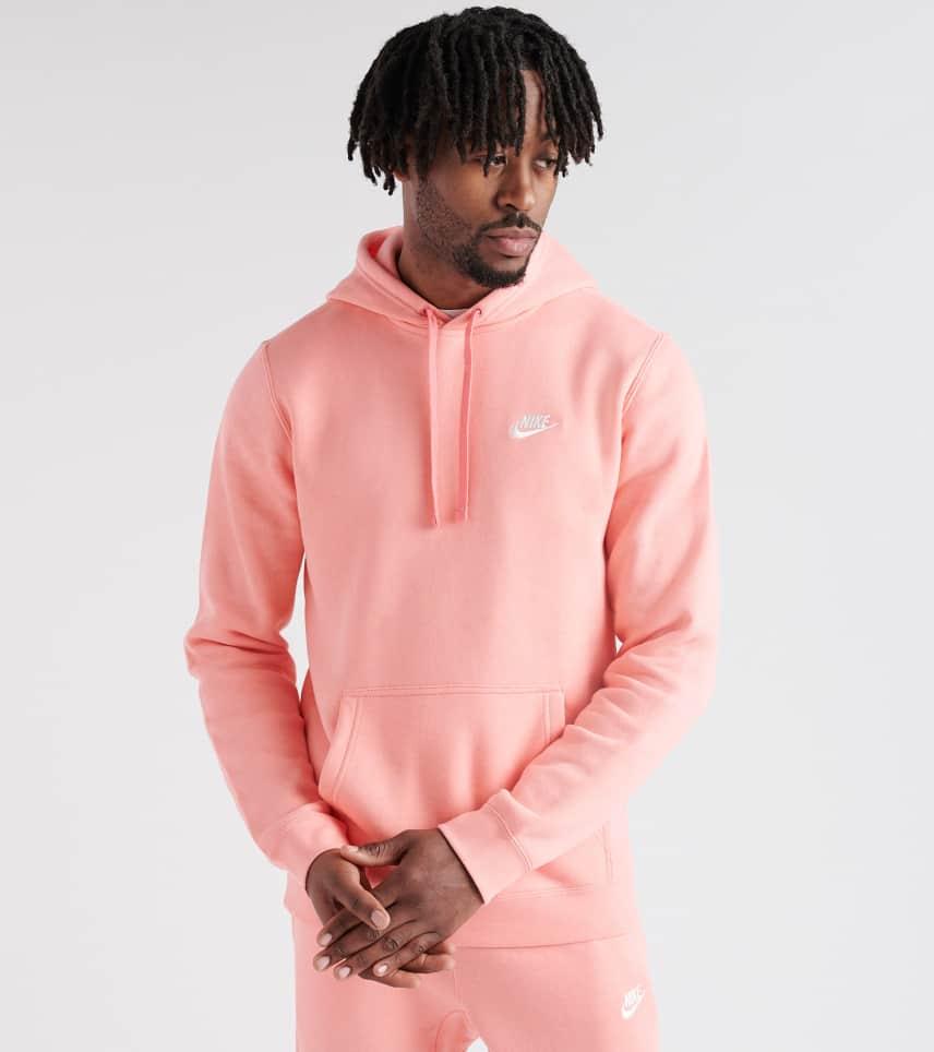 ce4f06e33ed1 Nike Club Swoosh Pullover Hoodie (Pink) - 804346-668